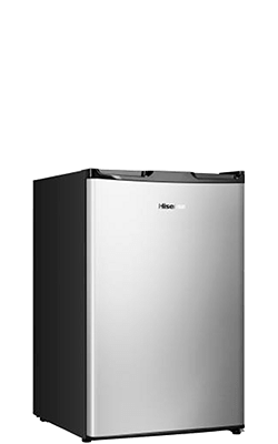 4 4 cu ft  Freestanding Compact Refrigerator (RS17DR1SS) - Hisense